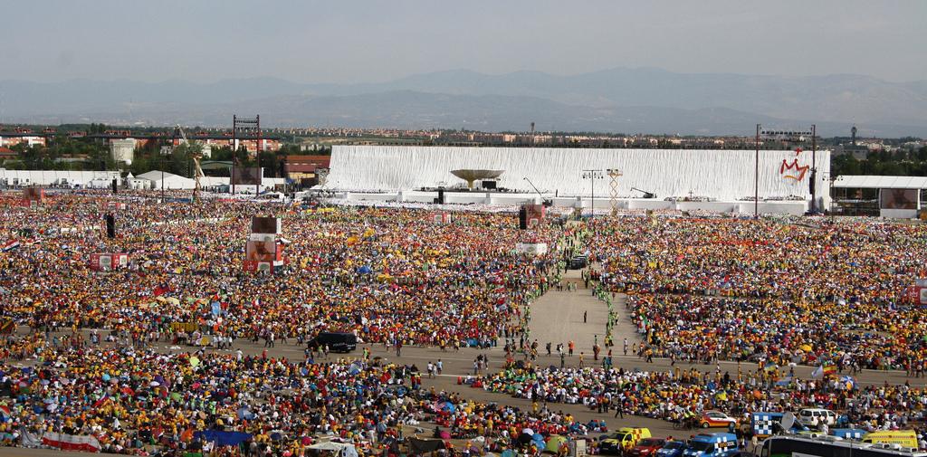 Aérodrome de Cuatro Vientos - Week-end de clôture des JMJ de Madrid