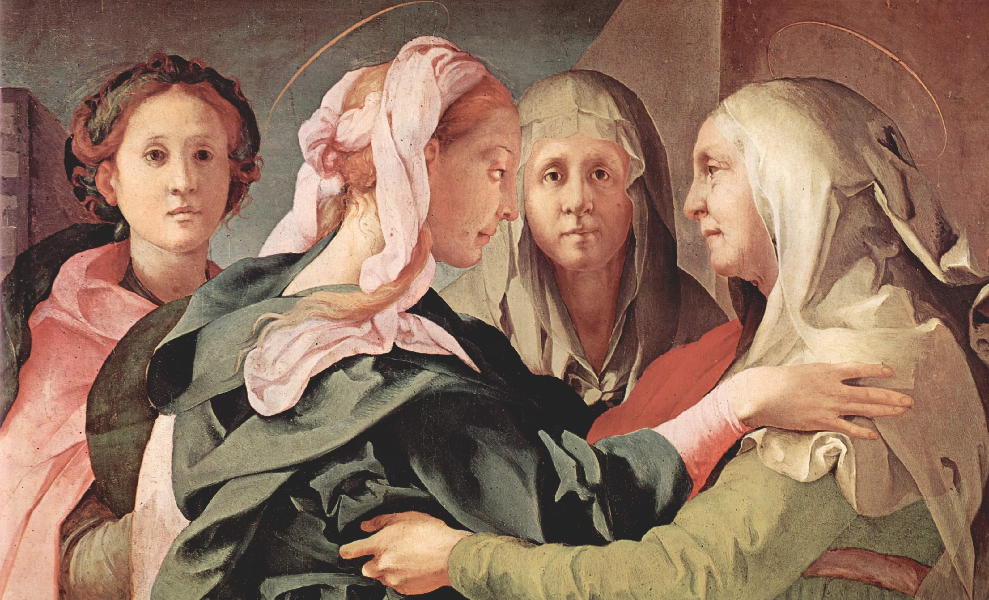 la Visitation de Jacopo Pontormo
