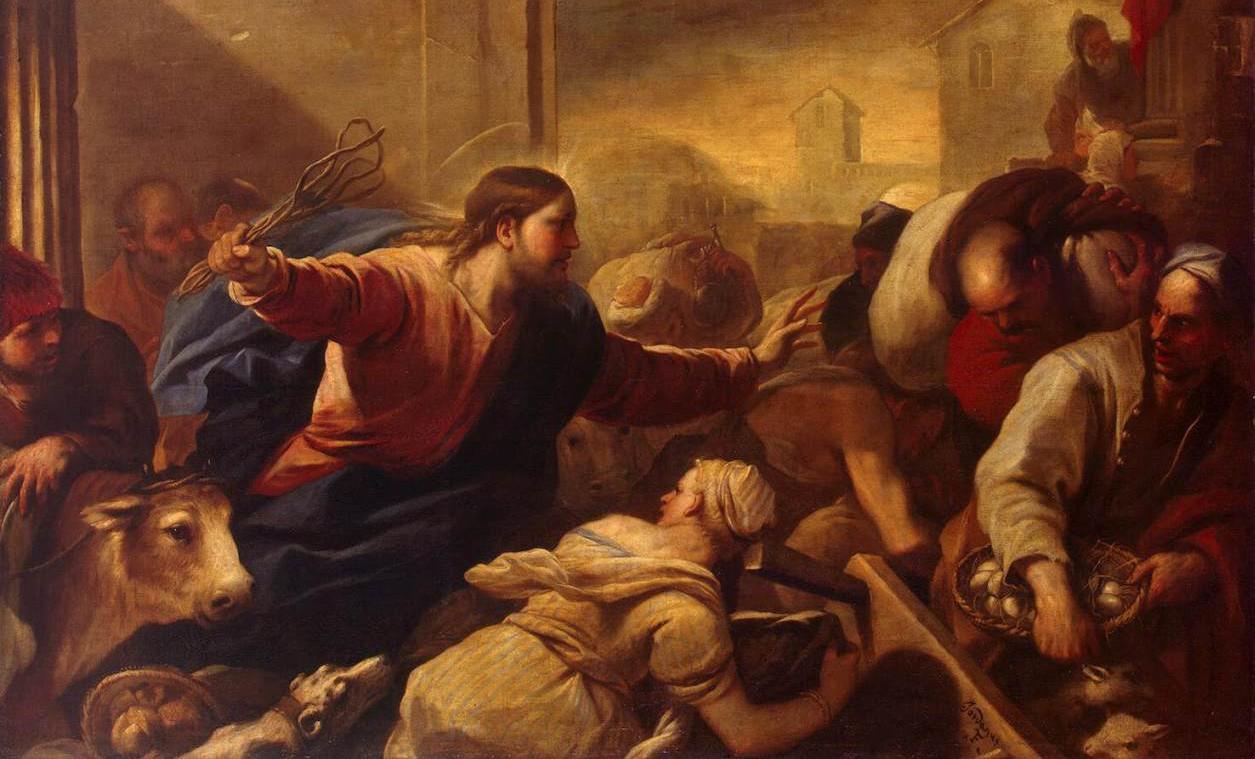 Le Christ chassant les marchands du temple - Lucas Giordano