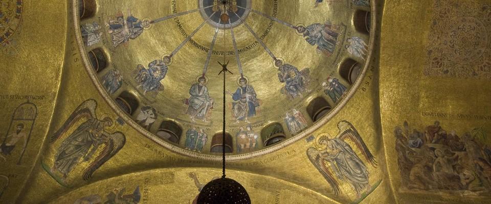 Coupole occidentale de la nef de Saint-Marc à Venise - une
