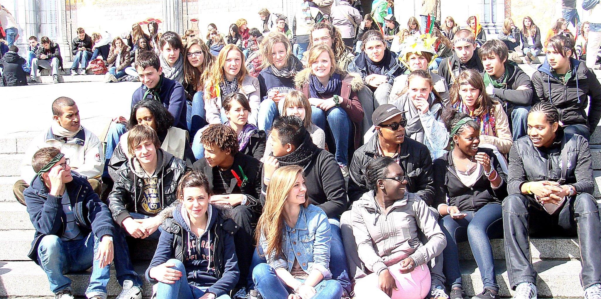 Jeunes au Frat à Lourdes - 2012