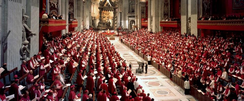 Evêques réunis lors d'une séance du Concile Vatican II