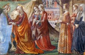 La Visitation - Cappella Tornabuoni