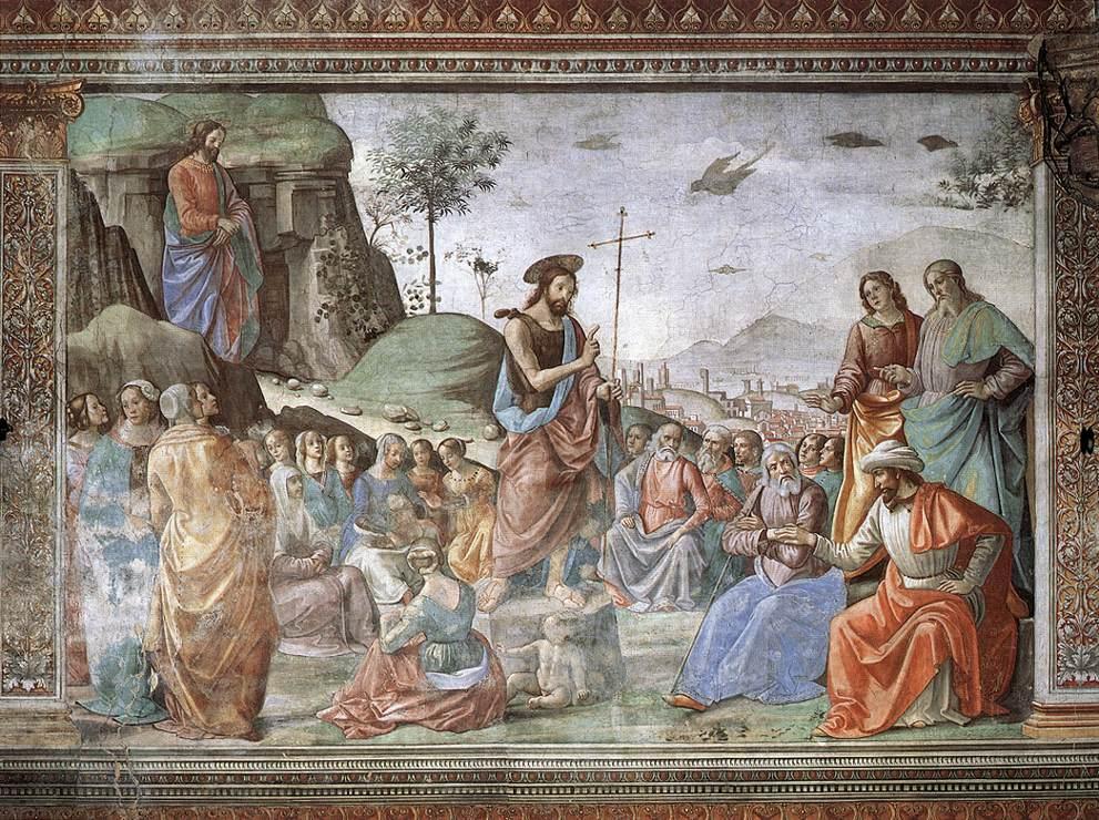 Domenico GHIRLANDAIO - La Prédication de Jean Baptiste