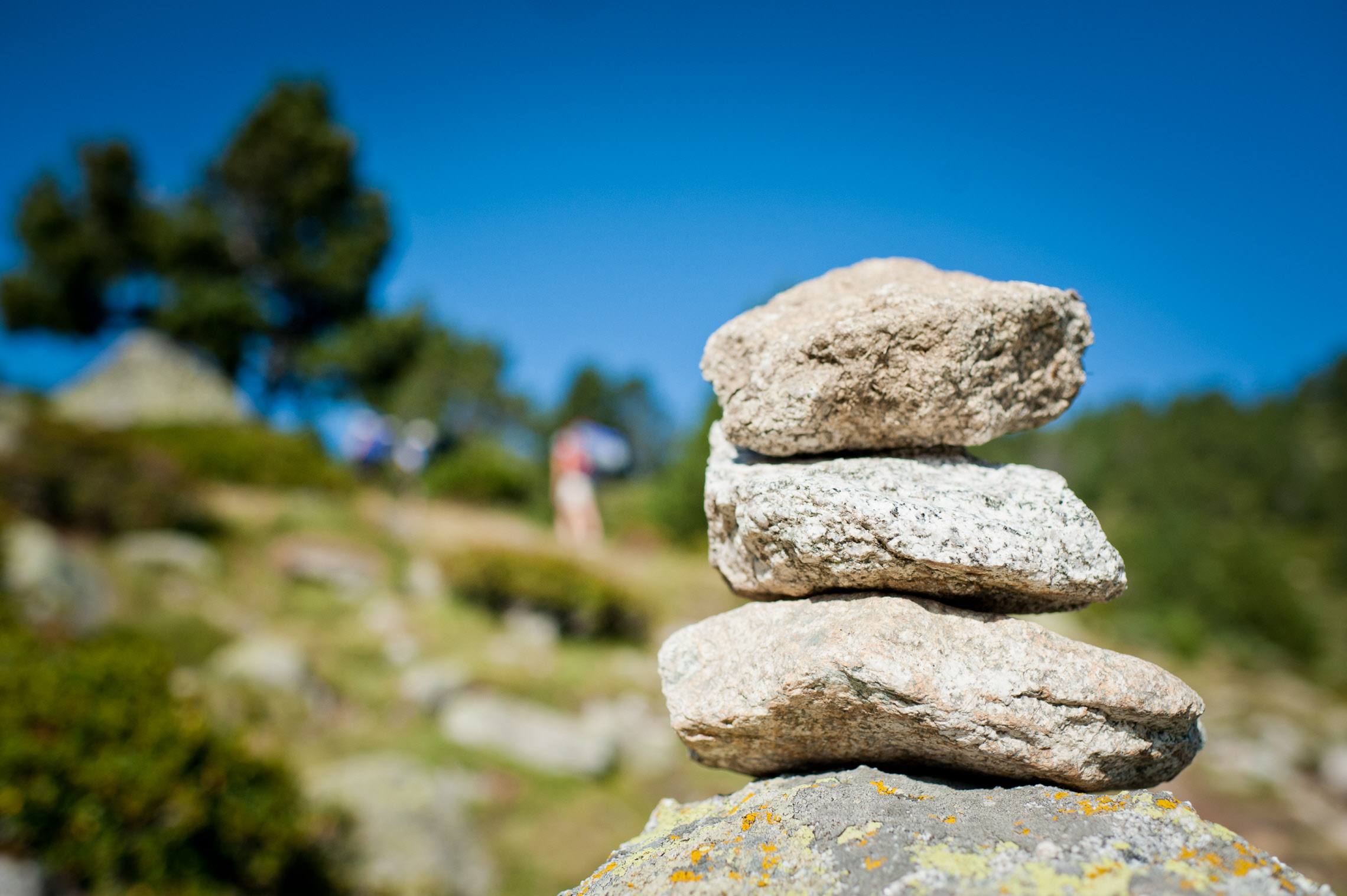 Tas de pierres, Massif du Canigou, France.