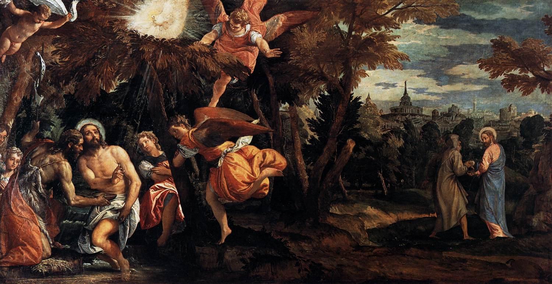 Baptême et tentation du Christ - Véronèse