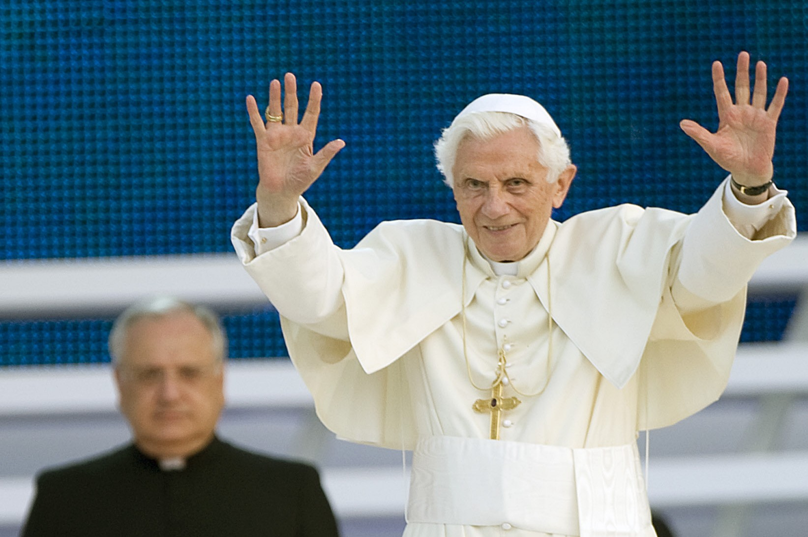 Benoît XVI lors de la VIIeme Rencontre Mondiale des Familles