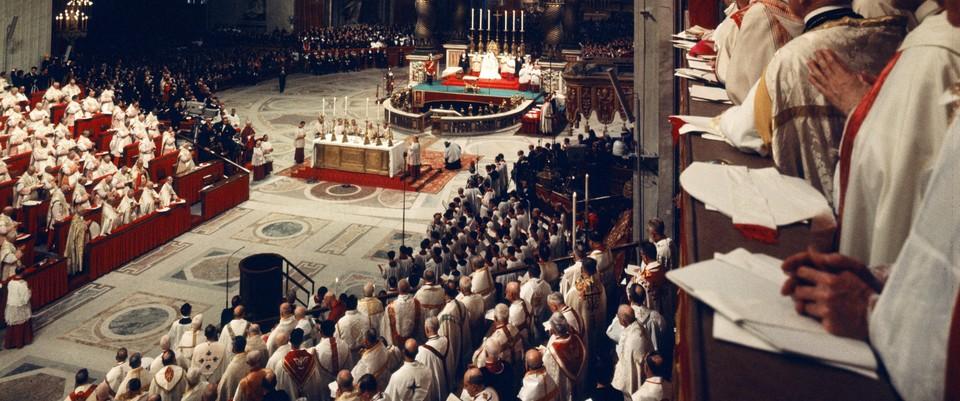 Concile Vatican II, bas. saint Pierre, Rome, Vatican.
