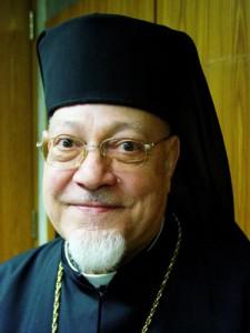 Le cardinal Naguib, patriarche de l'Eglise catholique copte. Il a participé à l'élection du pape François