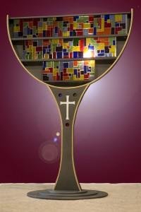 Un vitrail pour appeler à l'unité chrétienne - CECCV, Lausanne, 2010.