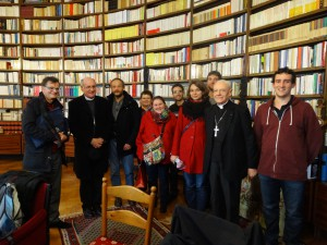 L'équipe du MRJC avec le Cardinal Poupard