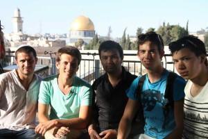 Lors de l'Interfaith Tour, à Jérusalem