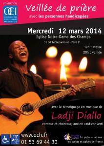 Affiche Veillée de prière OCH Ladji Diallo