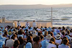 Sur une plage du Lac de Tibériade (Ciric/P.Razzo)