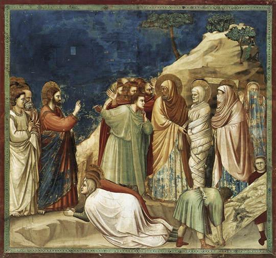 La résurrection de Lazare, Giotto di Bondone, 1306