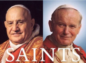 jean-paul II et jean XXIII saints