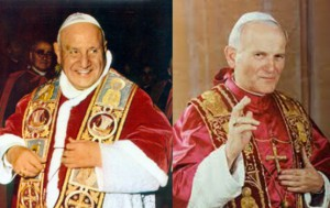 jean-paul II-jean XXIII - canonisations - saints