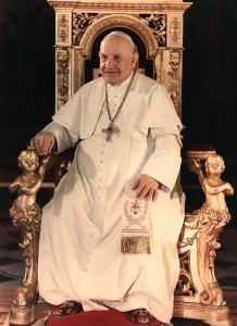 Pape Jean XXIII sur son trône. Ciric/KNA-Bild