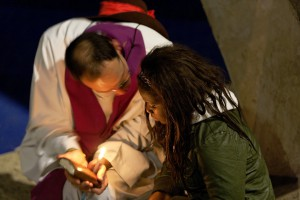 Sacrement de réconciliation lors du Frat en 2010