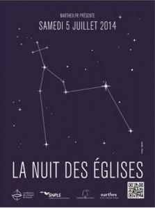 Affiche Nuit des églises 2014