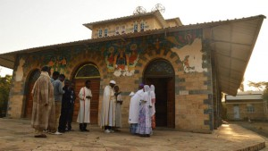Un baptême selon le rite éthiopien