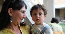 familles chrétiennes irakiennes mère et son fils