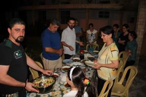 soulémanié familles chrétiennes irakiennes repas