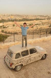 Vincent Gelot à Jérusalem en mai 2014