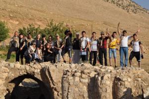 camp chrétiens irakiens dei maryam - ruines église 6ème siècle