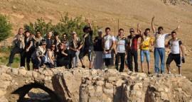 camp chrétiens irakiens deir maryam - ruines église 6ème siècle - L960