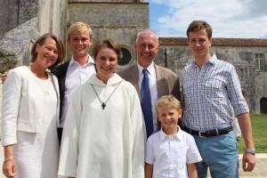 Albertine avec sa famille