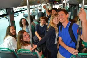coexister - groupe sciences po visite mosquée aïd - bus