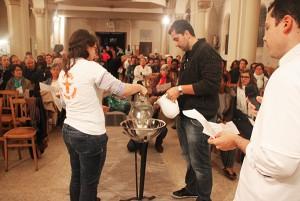 Prière œcuménique organisée par les jeunes catholiques de Gagny avec les jeunes protestants du Raincy et syriaques orthodoxes de Montfermeil. Copyright @Agnes Winter-Paroisse Saint Germain-Gagny