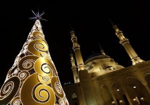 Devant la Mosquée Al Amin à Beyrouth au Liban
