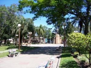 Plaza Artigas à Tacuarembó, en Uruguay, où se trouve Jean-Bastien