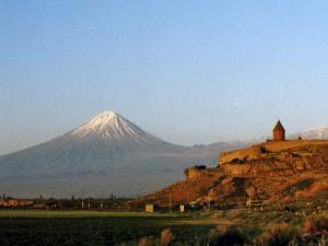 Le Mont Ararat et le monastère Khorvirab
