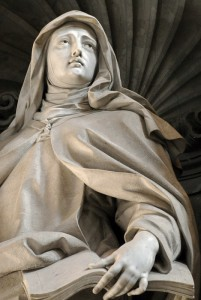 Sculpture de Filippo della Valle, basilique saint pierre de Rome. Crédits : Ciric - Corinne Simon