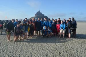 Groupe d'étudiants de l'aumônerie de Brest