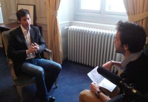 Martin de Lalaubie, avec François-Xavier Bellamy, philosophe et adjoint au maire de Versailles.