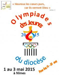 affiche olympiades nimes 2015