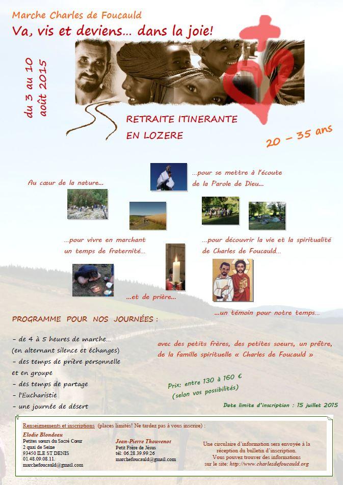 Flyer Marche Charles de Foucauld