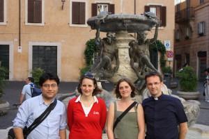 Equipe du SNEJV à Rome pour la béatification de Jean-Paul II en 2011