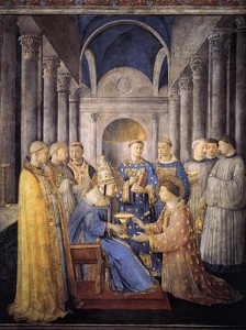 L'ordination de Saint Laurent comme diacre, Fra Angelico
