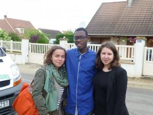 Adelaïde, Jean et Estelle, membres de l'équipe nationale de la JEC élues cette année pour septembre 2015