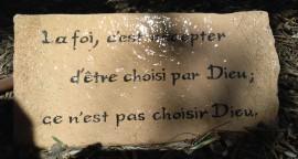 Citation du cardinal Lustiger, au monastère d'Abu Gosh