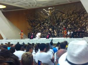 MEJ rencontre mondiale 2015 - audience_pape