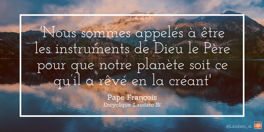 création - laudato si