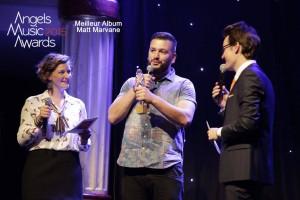 Matt Marvane reçoit le prix du Meilleur album de l'année