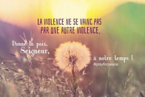 la violence ne se vainc pas par une autre violence - paix