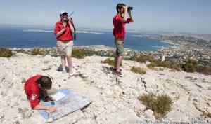 Scouts et Guides de France - Nature-Environnement - Mission de surveillance des forets avec les Pionniers/Caravelles/Compagnons a Marseille Luminy (13) - le 19/07/2009 - Photo (C) Jean-Pierre POUTEAU 2009